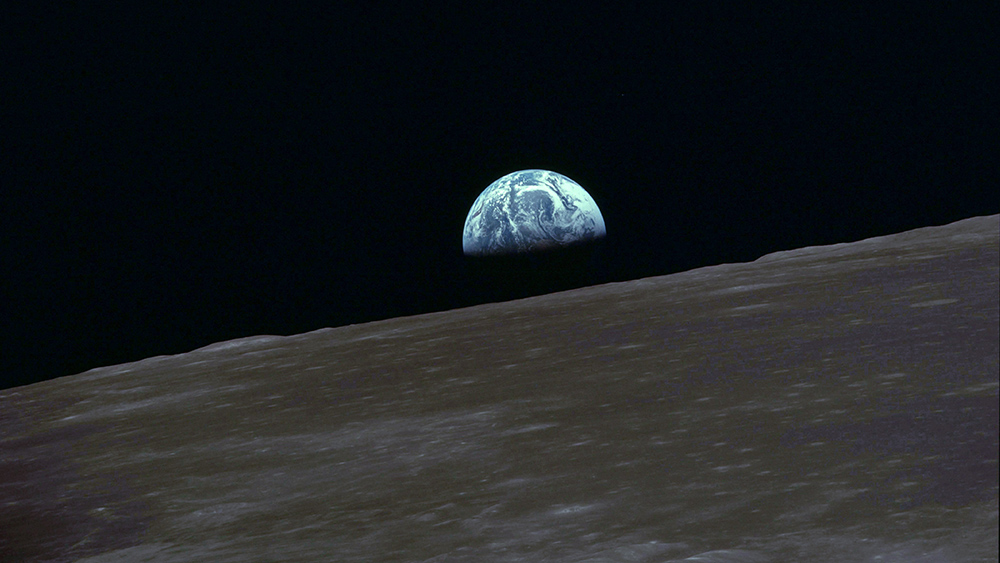 photo of Earth rise from Apollo 10
