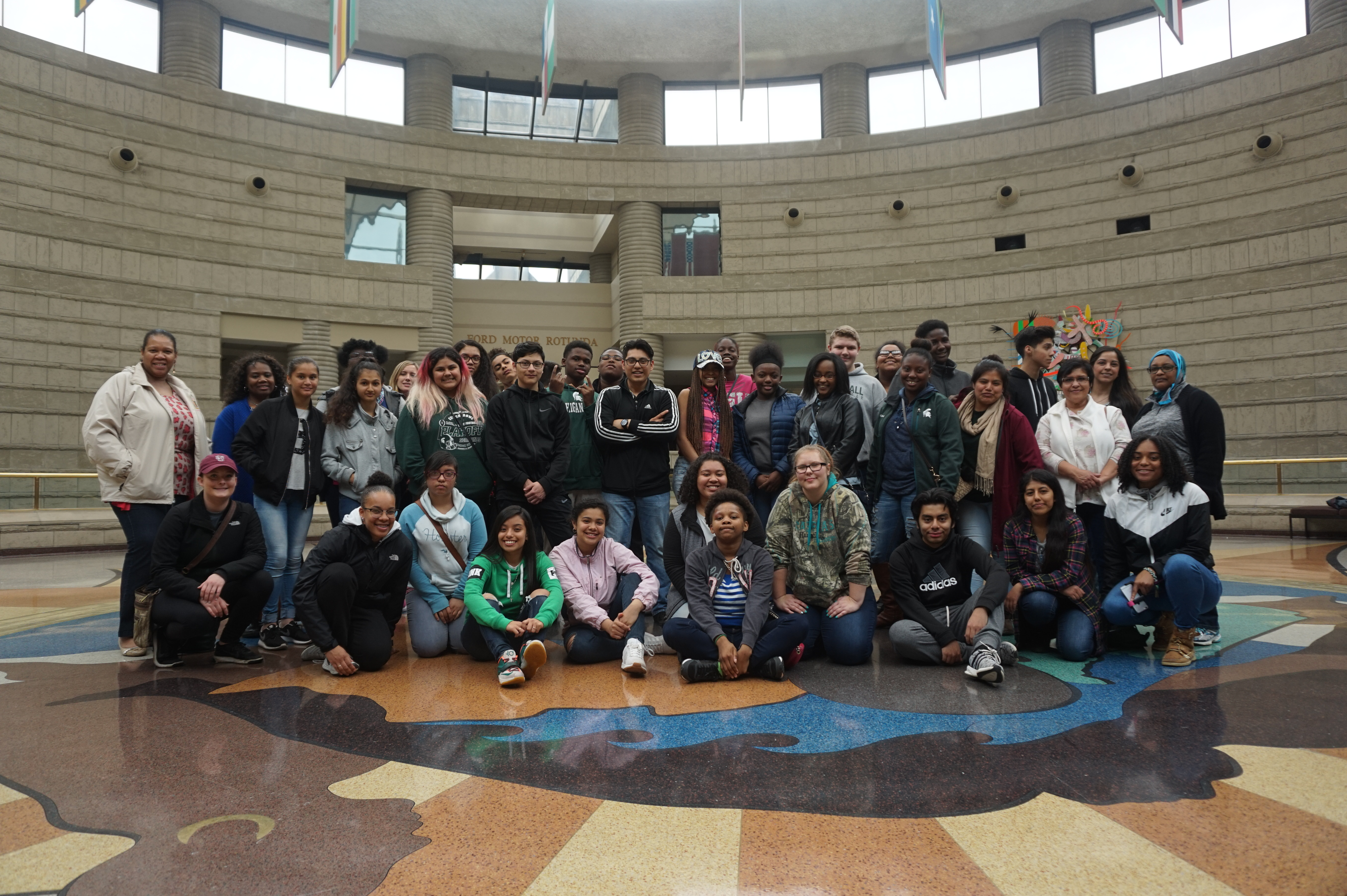 photo of Upward Bound students at the Charles H. Wright Museum of African American History