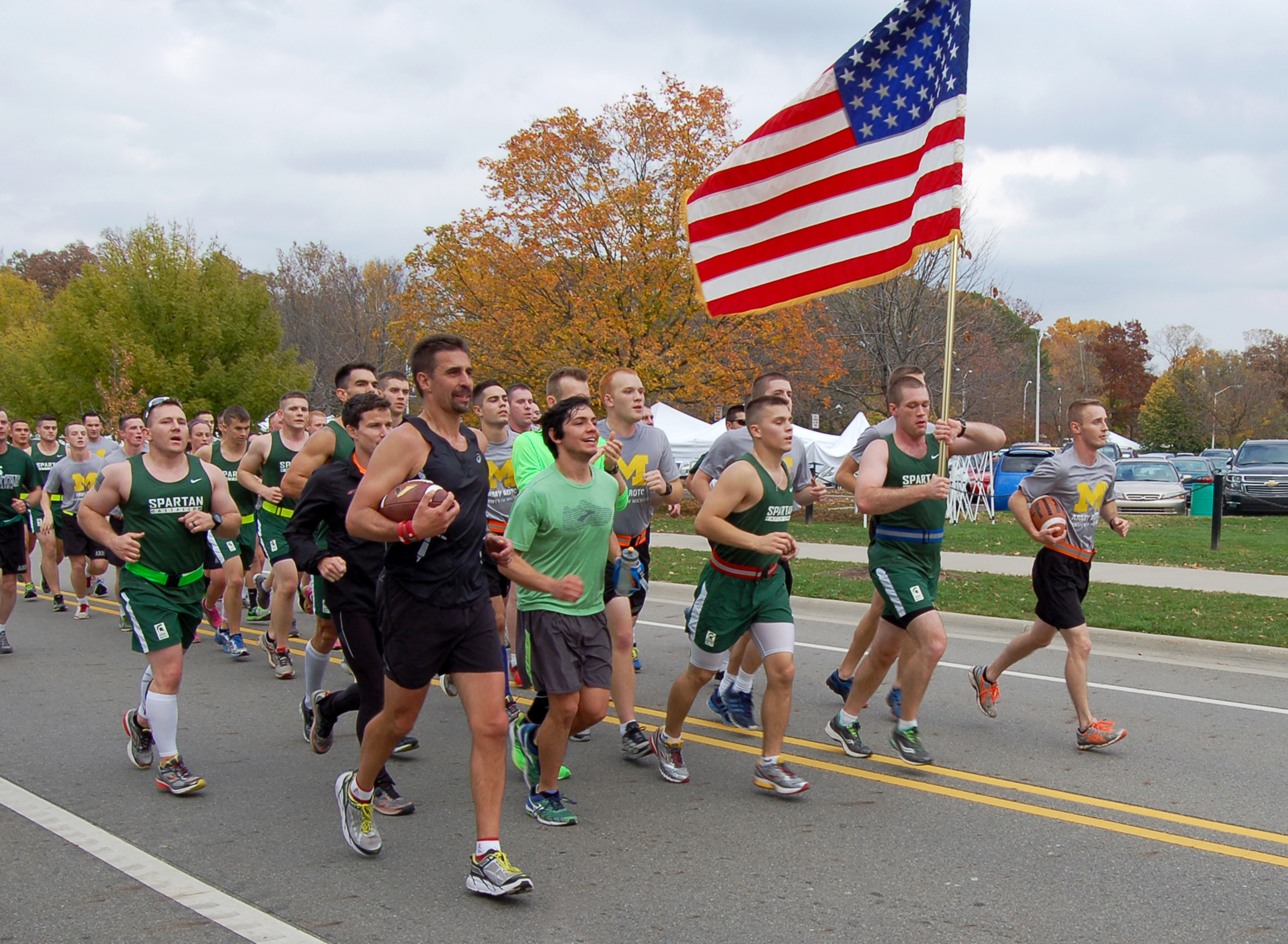 photo of ROTC cadets running in Alex's Great State Race