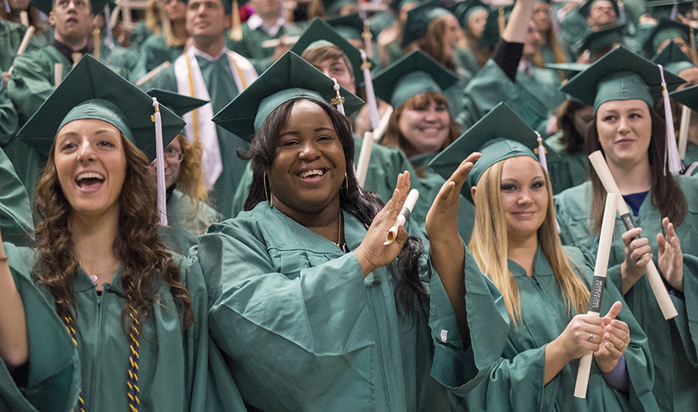 msu students at commencement