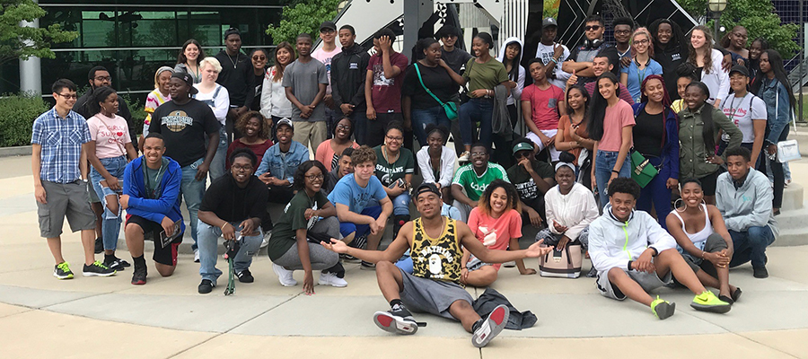 Student participants of the ESSA and SSOCAL bridge programs visit museums in Detroit on the weekend