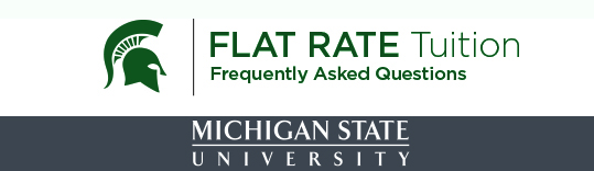 Flat Rate Tuition Frequently Asked Questions