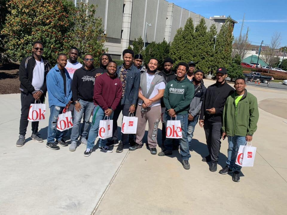 Rising Black Men student group in Atlanta Georgia