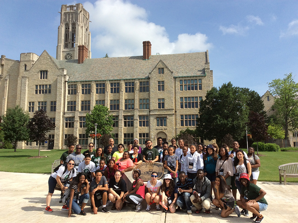 photo of GEAR UP students at University of Toledo