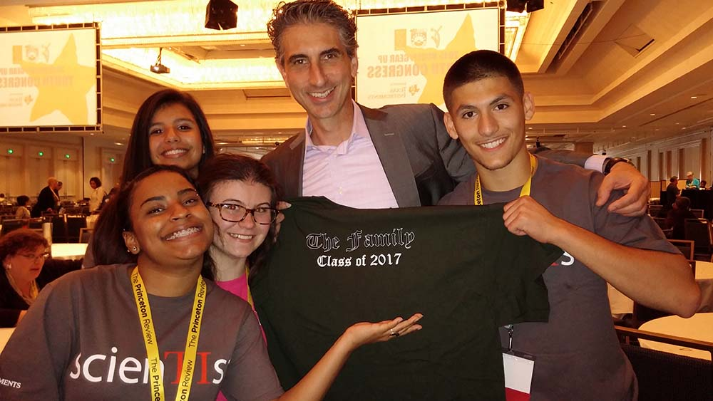 photo of MSU GEAR UP youth congress students with CEO of NCCEP/GEAR UP